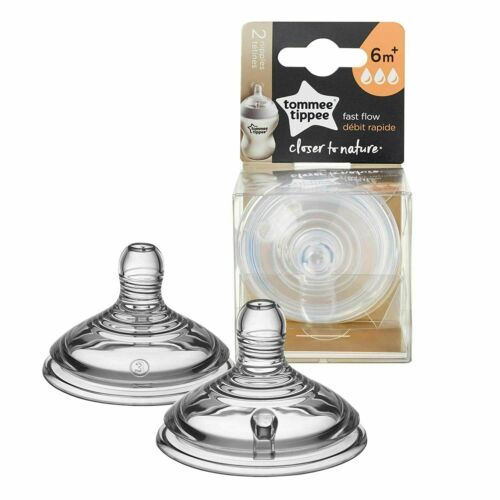 Tommee Tippee Closer to Nature Nipple Fast Flow 6+ Months 2 Count