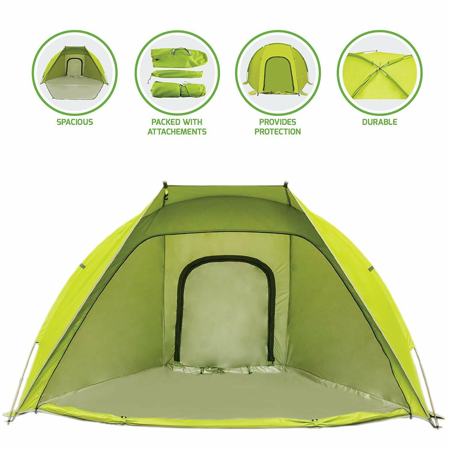 Ovente Two Person Camping Dome Tent Waterproof & Windproof Outdoor Green TB0174G