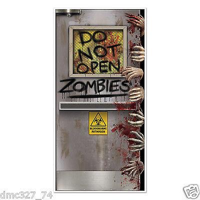 HALLOWEEN Walking Dead Party ZOMBIE LAB Do Not Open DOOR COVER Decoration - Halloween Open Door
