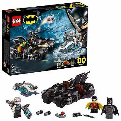 LEGO 76118 DC Batman And Robin 2-IN-1 Bike Cycle Mr Freeze Batcycle Battle Set