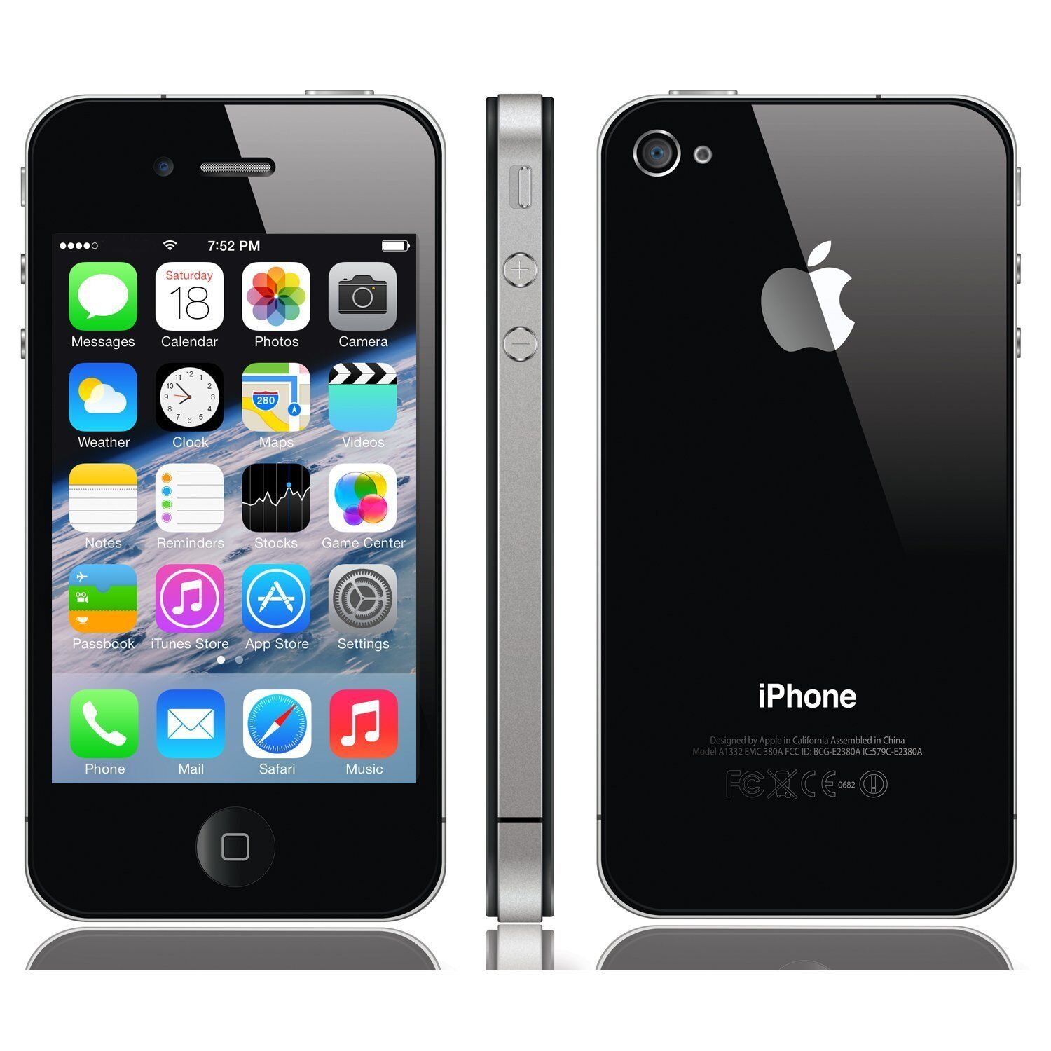 NEW APPLE IPHONE 4S - 16GB BLACK UNLOCKED TO ALL NETWORKS SMARTPHONE (NEW AND BOXED)
