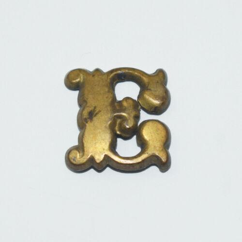 "Original Brass Zouave-Style Letter ""E"" Hat Insignia - Civil War Era"