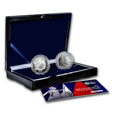 2016 2-Coin Silver 1 oz Britannia Proof/Reverse Proof Set