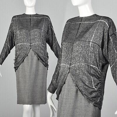 XS Galanos 1980s Skirt and Blouse Set Silk Wool 80s Vintage Designer VTG for sale  Lake Junaluska