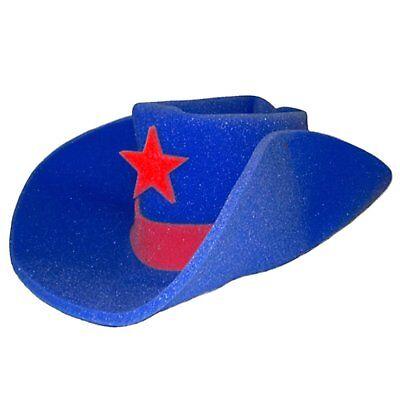 Giant Blue Foam Cowboy Western Novelty Hat Jumbo 30 Gallon Wild West - Foam Cowboy Hats