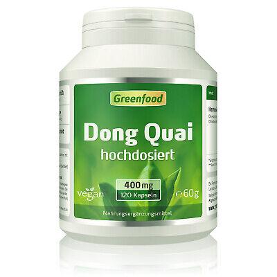 Greenfood Dong Quai, 400mg, hochdosiert, 120 Kapseln - vegan