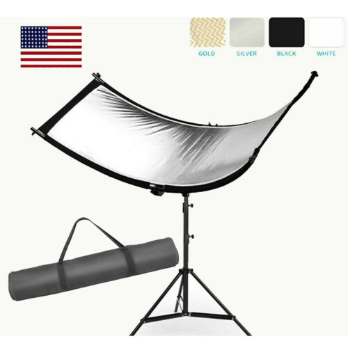 Clamshell Light Reflector/Diffuser for Studio or any Photo Situation with Stand