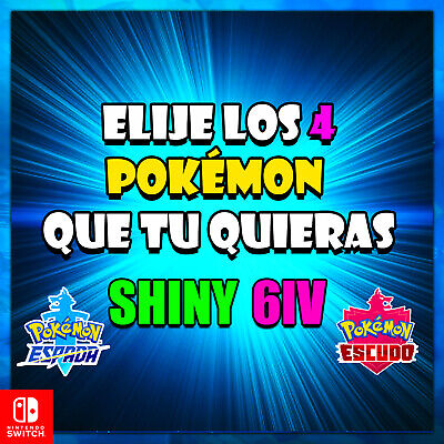 Choose 4 Pokémon 6iv Sword And Shield All The Pokemons Of Galar And Isle Armour