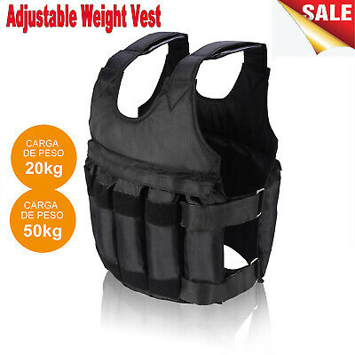 Adjustable Workout Weight 20/50KG 44/110LB Weighted Vest Tra