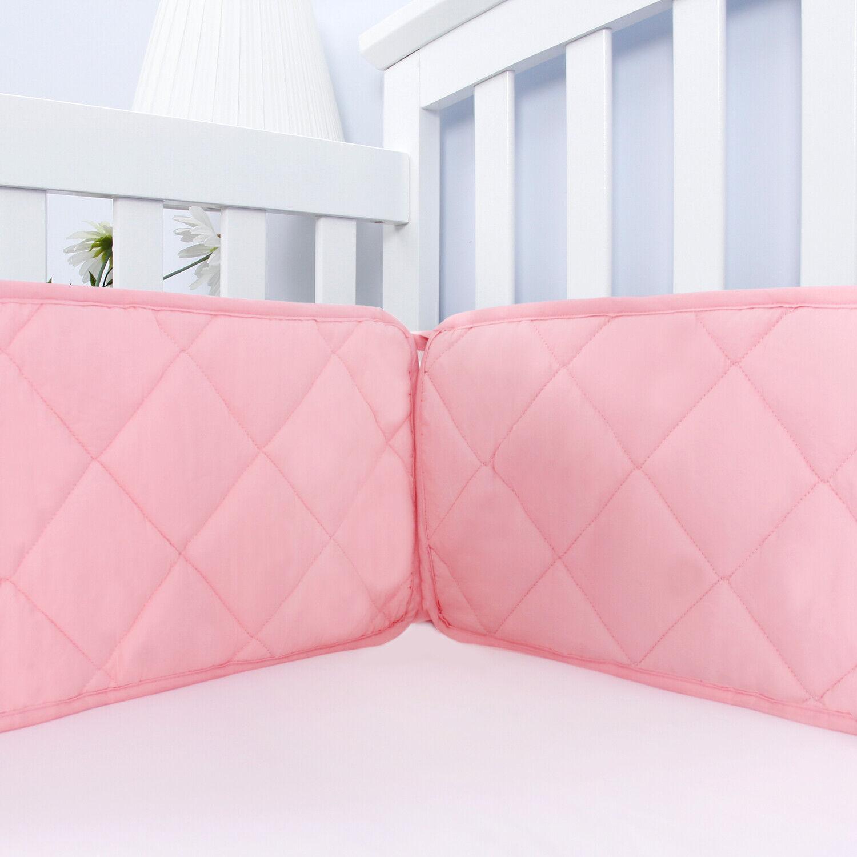 pink crib bumper for girls baby gift