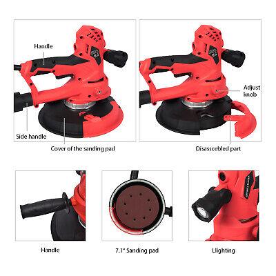 Electric Hand Held Drywall Sander Tool 710w 5 Variable Speed Sanding Sand Pads