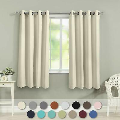 VEEYOO Blackout Curtains 2 Panels Thermal Insulated Living Room Darkening Drapes 2 Curtains Panels Drapes