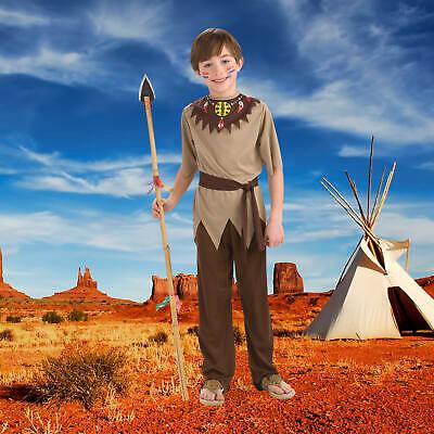 Indianer Junge Kinderkostüm Indianerjunge Kostüm Karneval Größe 104 - 134 (Kinder Indianer Junge Kostüm)