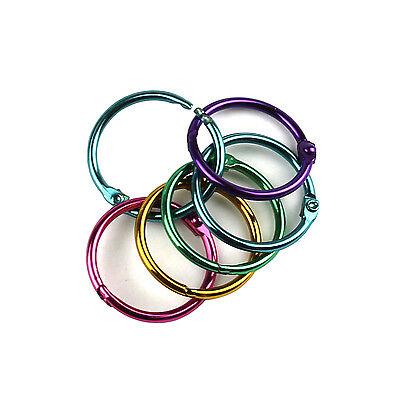 25 Pieces Multicolor Metal Book Rings 1 Loose Leaf Binder Rings To505