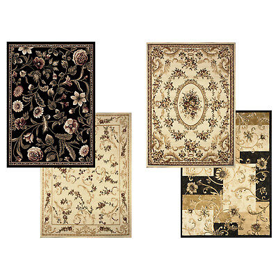 Transitional Floral Area Rug 5x7 Casual Vines Scrolls Carpet - Actual 5'2