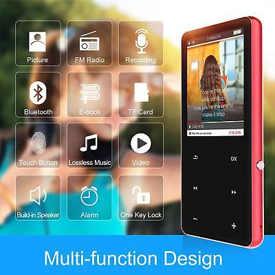 16GB HiFi MP3 Players Hi Res Digital Audio Players with Bluetooth 4.0 2.4''