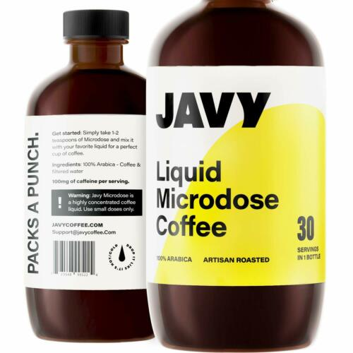 JAVY COFFEE Liquid Coffee Concentrated Hot Coffee Iced Coffee Latte Affogato 6oz