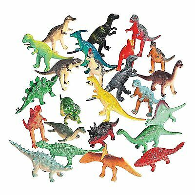 72 PACK Assorted Toy Dinosaurs. Plastic Figures Dino Animal Kid Play Set Gift