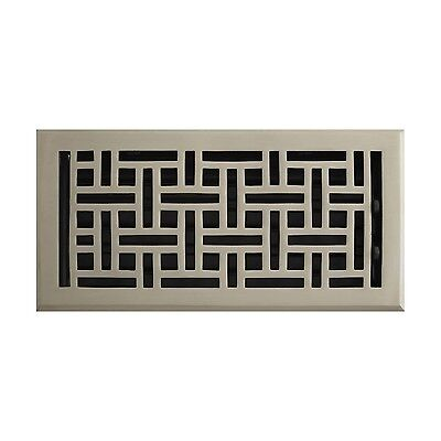 Naiture Solid Brass Wall Register Wicker Style with Louver 9 Sizes and 6 Finish Louvered Wall Register