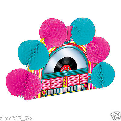 1950s Sock Hop Grease Party Table Decoration POP OVER JUKEBOX Tissue CENTERPIECE (1950s Table Decorations)