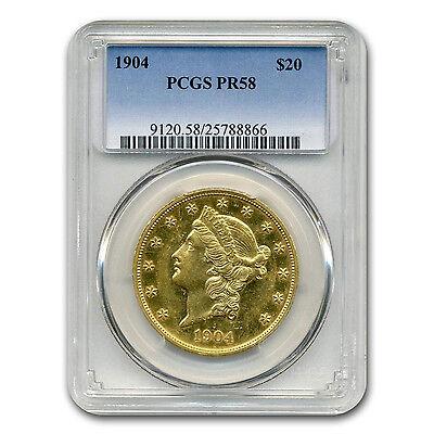 1904 $20 Liberty Gold Double Eagle PR-58 PCGS - SKU #116346