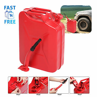 Jerry Can Gas Gasoline Fuel 5 Gallon Container Army Military Metal Steel Tank Us
