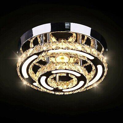 2 Light Flush Mount Ceiling Light Fixture Modern Crystal Led Chandelier Kitchen