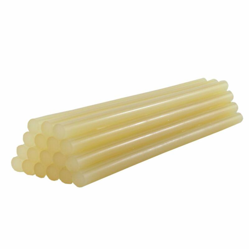"735R515 Full Size 15"" High Strength Amber Color Hot Glue Stick - 5 lb Box"