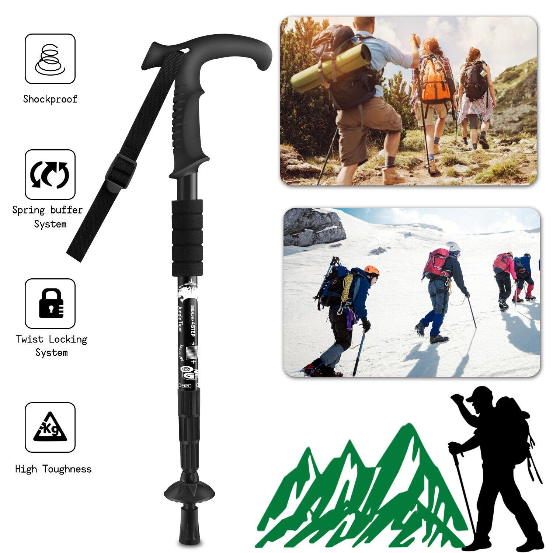 Ultra Strong Trekking Poles Sticks Aluminum Adjustable Hikin