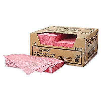 Chix Wet Wipes 11 1/2 x 24 White/Pink 200/Carton 8507
