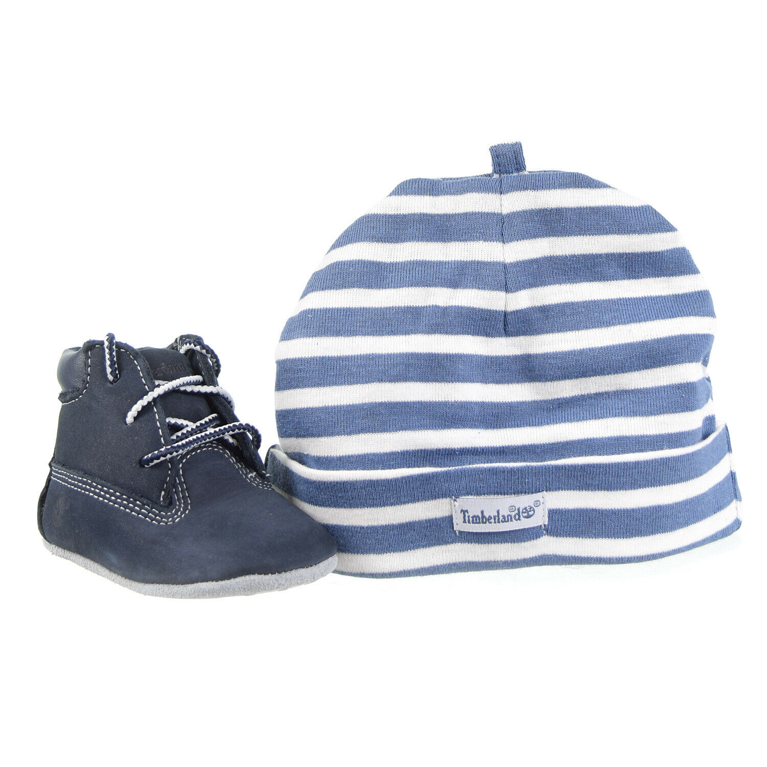 Timberland Crib Booties And Hat Set Baby Toddlers Navy TB0A1LU3