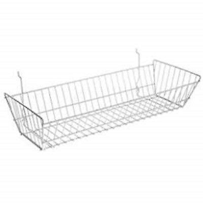 Only Hangers Slatwallgridwall Basket 24 Long X 10 Deep X 5 High White