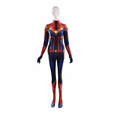 Carol Danvers Captain Marvel Cosplay Costume Women Party Bodysuit](Marvel Women Costume)