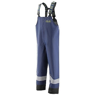 2436 Huk Commercial Grade PVC Waterproof Foul Weather Bib Navy Size XL