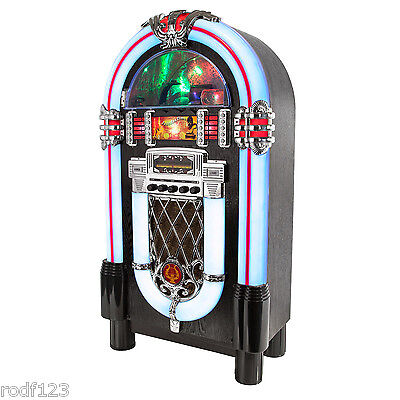 i60008 Large Retro 1960's Style JukeBox Station CD Player & Radio & Bluetooth