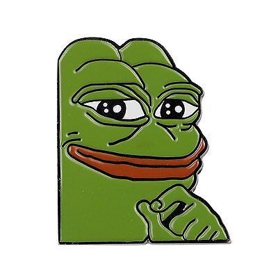 Gudeke Smug Frog Pepe Lapel Pin