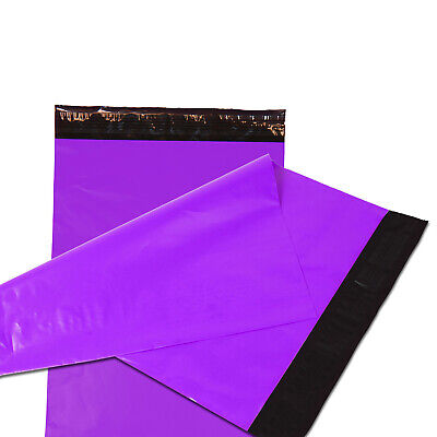100 5x7 Poly Mailers Plastic Envelopes Shipping Mailing Bags 2.5 Mil Purple