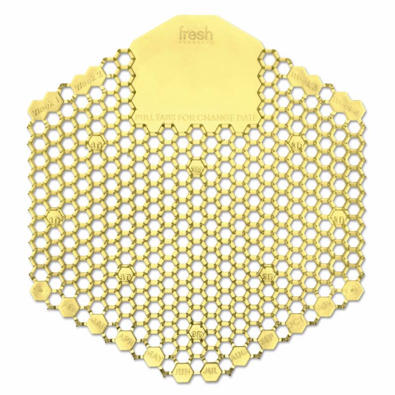 Fresh Products Wave 3D Urinal Deodorizer Screen Yellow Citrus 10/Box 3WDS60CITBX