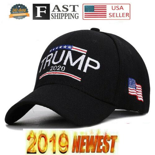 Trump 2020 MAGA Hat Embroidered Hat Keep Make America Great Again Cap Black RR