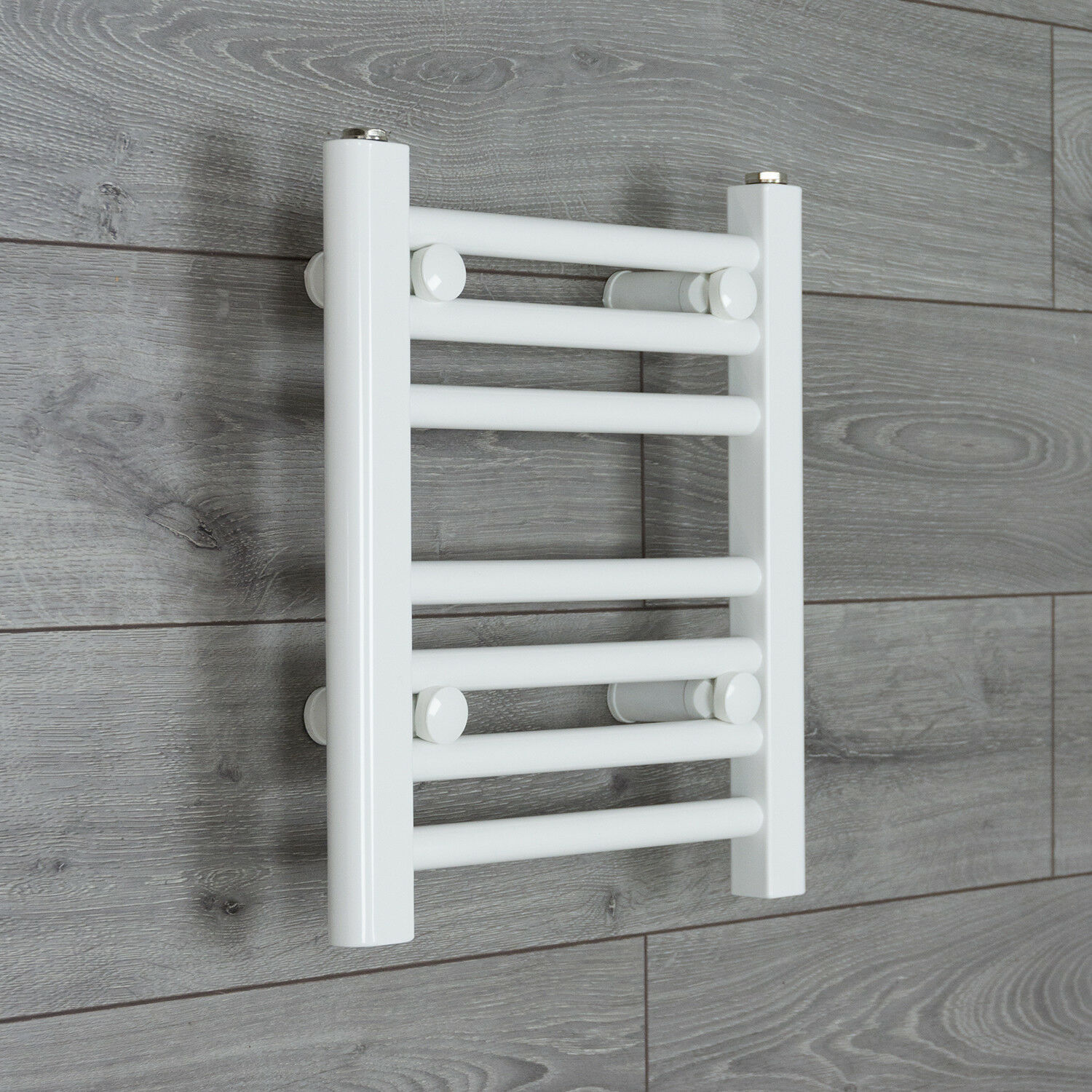 Ladder Heated Towel Rails: 350 Mm Wide White Ladder Heated Towel Rail Radiator