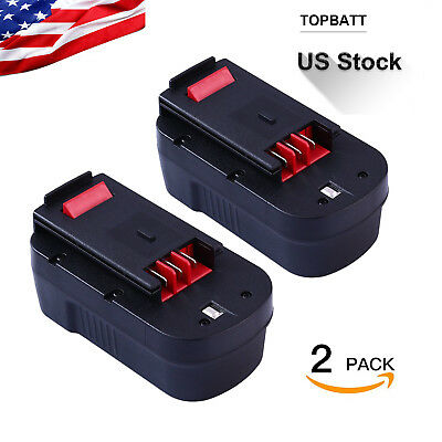 Replacement HPB18-OPE 3.0Ah Battery for Black Decker 18V FSB18 Power Tools--2pcs