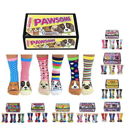 Lustige Socken 6er Set Tiermotiv Tiersocken Strümpfe Hund Katze Tier Geschenkbox
