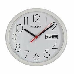 White Day Date Wall Clock - Stylish Home Decor