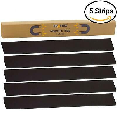 New 1 Magnetic Tape Extra Strong Premium Grade Magnet Strips - With 3m Adh...