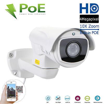 CCTV 1520P Mini Outdoor IR Bullet IP PTZ Camera 10x Optical zoom POE 4MP HD  Outdoor Mini Bullet