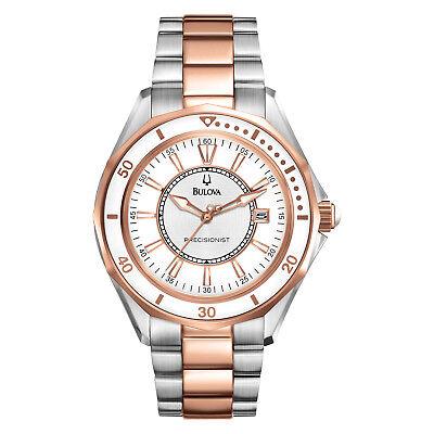Bulova Women's Precisionist Quartz Winter Park Two-Tone 36mm Watch 98M113