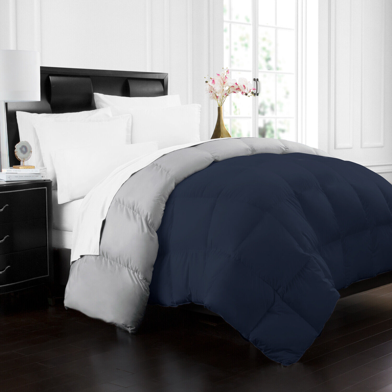 goose down alternative reversible comforter by ienjoy