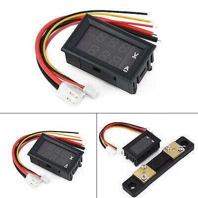 Dual Digital Volt Meter Amp Gauge Dc 100v 10a 50a 100a Voltmeter Ammeter Led Kit