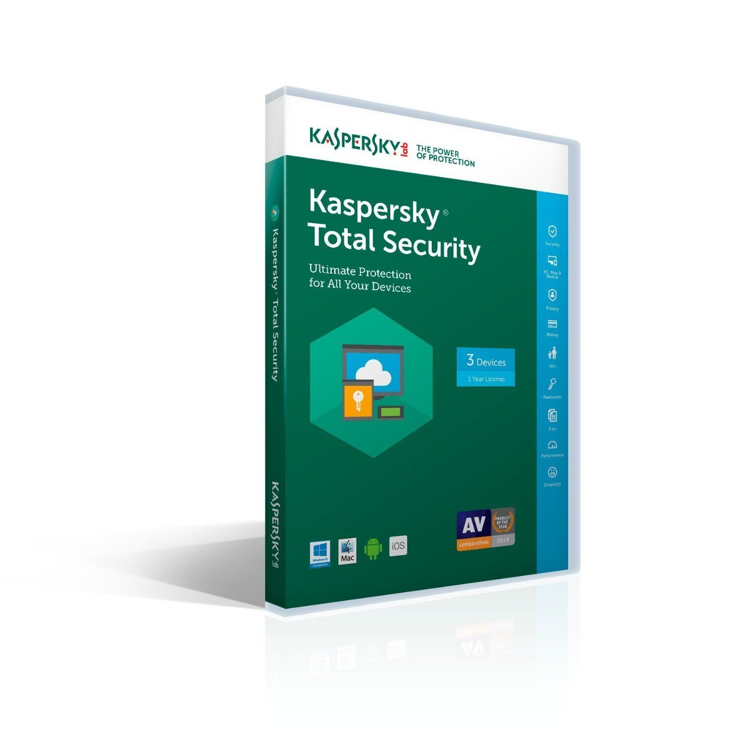 Kaspersky Lab Total Security 3 Devices 1 Year 2017