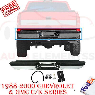 Step Bumper Assembly Chrome Fleetside For 1988-2000 Chevrolet GMC C/K Truck